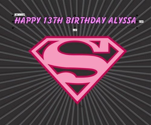 Kopykake Super girl Super Girl Birthday Edible Cake