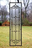 """10"""" x 36"""" Stunning All Clear Stained Glass Beveled"""