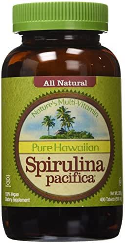 Nutrex Hawaii Pure Hawaiian Spirulina Pacifica - 500 mg - 400 Tablets (Pack of 2)