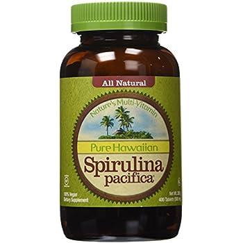 Nutrex Hawaii Pure Hawaiian Spirulina Pacifica -- 500 mg - 400 Tablets (Pack of 2)