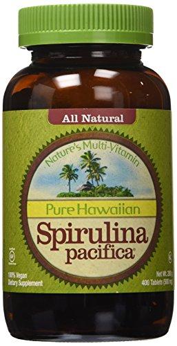 Nutrex Hawaii Pure Hawaiian Spirulina Pacifica - 500 mg - 400 Tablets (Pack of 2) - Natural Hawaiian Spirulina