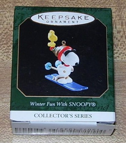 1999 Hallmark Keepsake Ornament Winter Fun With Snoopy Co...