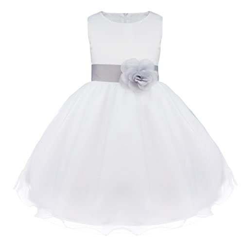Flower Girls Dresses Tulle Wedding Pageant Bridesmaid Christening Princess Kids Clothes 2-14 Years