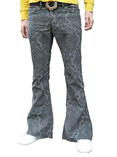 Fuzzdandy Hombre Motivo Cachemira Pantalones Campana ...