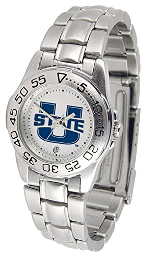Utah State University UTU Ladies Stainless Steel Wristwatch