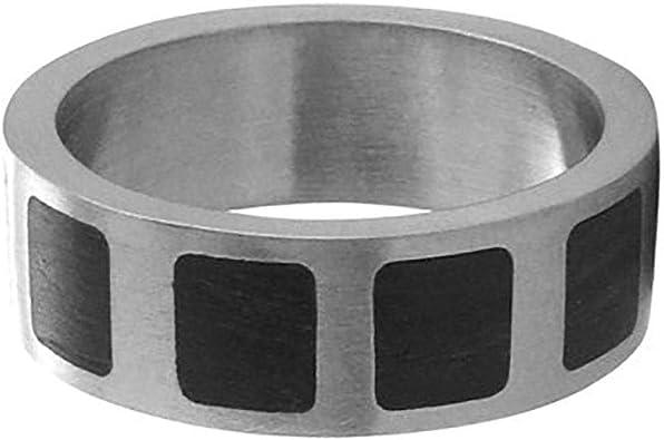 8 Titanium Size Jay Seiler Titanium 8mm Black IP-Plated Polished Band