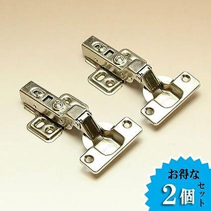 TR03008 ダンパー内蔵/スライド丁番(半かぶせ)2個セット