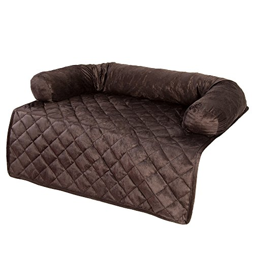 PETMAKER Furniture Protector Pet Cover with Bolster - Brown - 30x30.5 (Arm Upholstery Chair Sage)