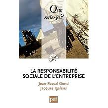 La responsabilité sociale de l'entreprise: « Que sais-je ? » n° 3837