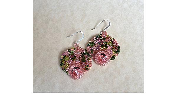 Multi-colored Peyote style seed bead rings