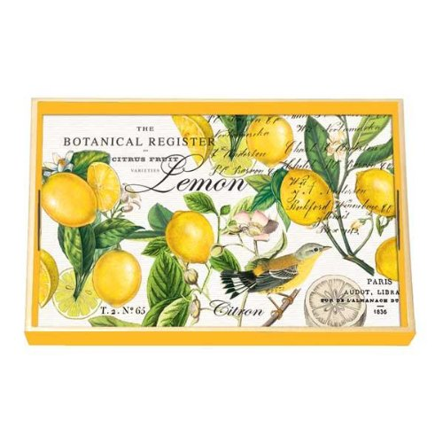 Michel Design Works Lemon Vanity Decoupage Wooden Tray