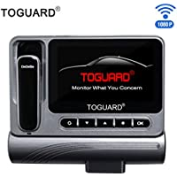 Dash Cam and Bluetooth Headset 2 in 1 - Toguard Full HD 1080p 160 Degree Wide Angle In Car Camera with WiFi G-sensor Loop Recording Parking Monitor