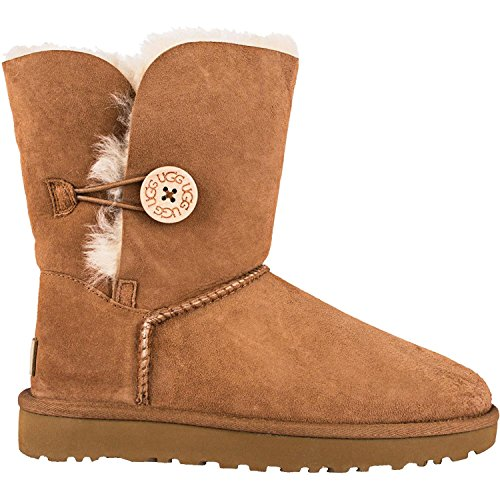 UGG Women's Bailey Button II Winter Boot, Chestnut, 10 B US (Card Boots Sale Christmas)