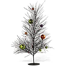 24 Inches Black Tree W/Orange, Purple And Green Balls By K K Interiors