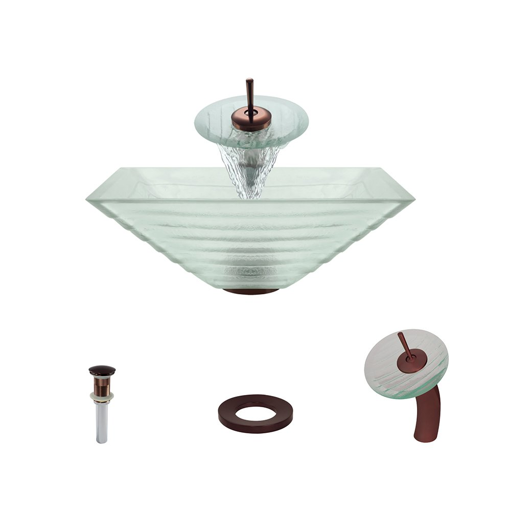 604 Oil Rubbed Bronze Waterfall Faucet Bathroom Ensemble