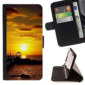 Momo Phone Case / Flip Funda de Cuero Case Cover - Seaside Sunset - LG G2 D800