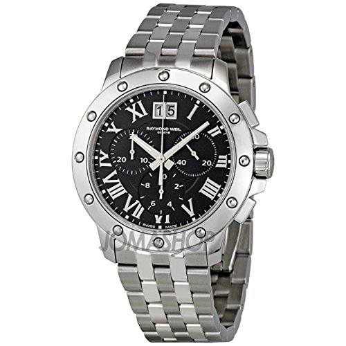 Raymond Weil Men's 4899-ST-00208 Tango Stainless Steel Black Chronograph Watch