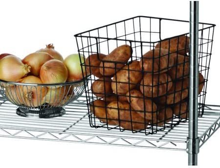 Hyper Tough 13.4Dx23.2Wx30.6H in 3 Tier Stackable Wire Shelving Black