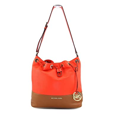 b008cb31c9e Image Unavailable. Image not available for. Color  Michael Kors Jules Large  Colorblock Drawstring Shoulder Bag