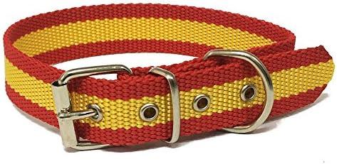 Happyzoo Collar para Perro Bandera de España 45 cm: Amazon.es ...