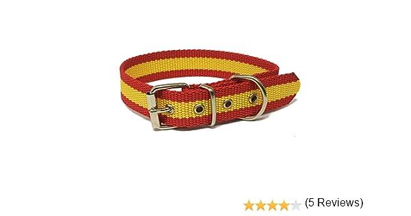 HappyZoo Collar Bandera de España 55 cm Perro: Amazon.es ...