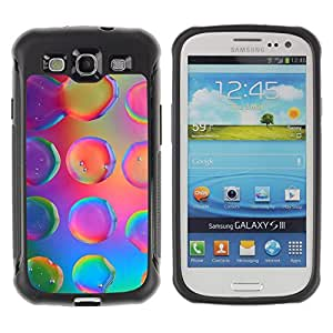 iKiki Tech / Estuche rígido - Water Droplets Colorful Neon Pink Bright - Samsung Galaxy S3 I9300