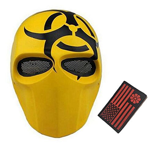 Deathstroke Army of Two Star Wars Fiberglass Full Face Mask (Yellow1)