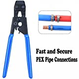 KARCLIN 8609098 Pex Cinch Clamp Fastening Tool From 3/8'' To 1'',Pex Cinch Crimping Tool Crimper For Stainless Steel Clamps