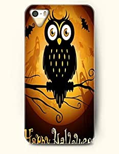 diy phone caseSevenArc iPhone 5 5s Case - Allhalloween Cute Black Owl And Yellow Moon With Ghosts And Batdiy phone case