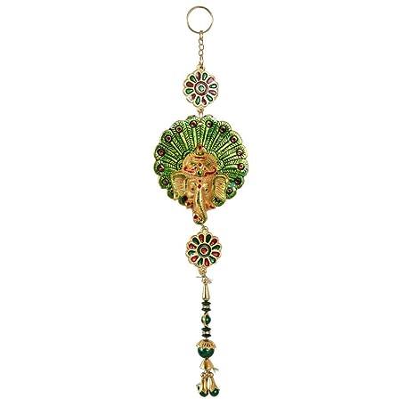 Amazon Com Handicrafts Paradise Door Hanging Peacock Feather Shaped