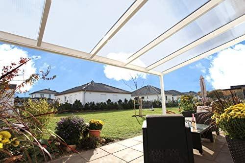 SKAN Genua - Cubierta para terraza (Madera, 434 x 307 cm, Aluminio ...