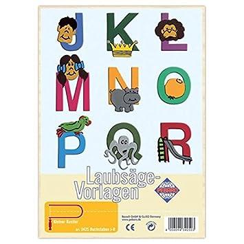 Matches21 Buchstaben J R Verziert Holz Laubsägevorlage Din A4