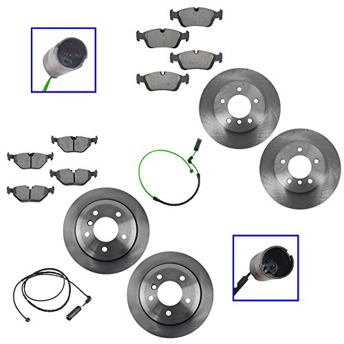 - Ceramic Brake Pad w/Sensors & Rotor Front & Rear Kit for BMW 325XI