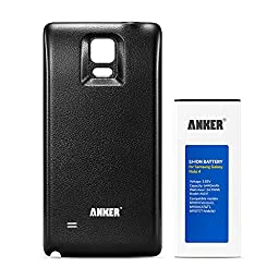 [NFC/Google Wallet Capable] Anker 6440mAh Extended Battery for Samsung Galaxy Note 4, N910, N910U 4G LTE, N910V(Verizon), N910T(T-Mobile), N910A(AT&T), N910P(Sprint), with Black Back Cover