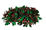 Christmas Tinsel Style Garland by Clever Creations | Festive Holiday Décor | Shiny Red and Green Tinsel Body with Larger Mistletoe Leaves and Berries | 4 Pack | Classic Traditional Theme | 6.5' Long