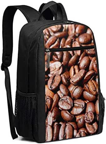 Casual Daypack Travel Laptop Backpacks For Women Men Cute Coffee Bean Drink Laptops Shoulder Bag College School Notebook Computer Bags Multipurpose Sports Fitness Daypacks For Hiking 17 Inch