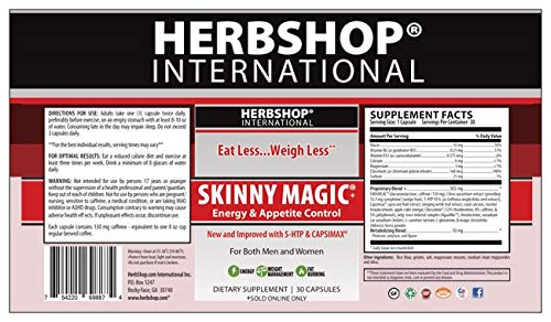 1 Bottle of Skinny Magic 30 Capsules and 1 Bottle of Zero Appetite Carb/Starch Blocker 90 Capsules - Combo Pack (Suggested Retail $60)