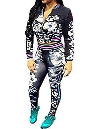 Lovaru Women's Hawaii Coconut Printing 2 Piece Jacket Suit