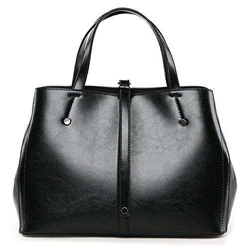 clutches bandolera Fekete Carteras mano bolsos Mujer y de de Shoppers Bolsos hombro y xq7YAnRPYw
