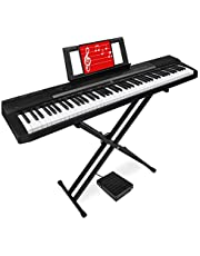 Best Choice Products 88-Key Full Size Digital Piano Electronic Keyboard Set for All Experience Levels w/Semi-Weighted Keys, Stand, Sustain Pedal, Built-In Speakers, Power Supply, 6 Voice Settings