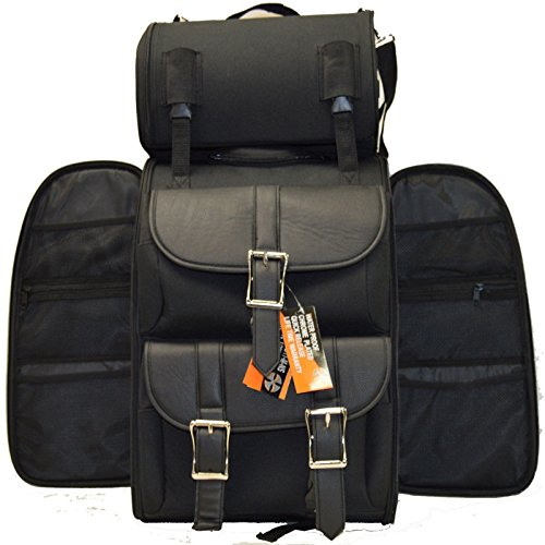 (MOTORCYCLE PACK TRAVEL LUGGAGE MANY POCKETS SISSY TRAVEL BAR BAGS PLAIN BAG BACK)