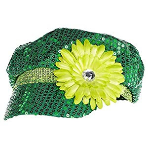 Green Shimmer Hat