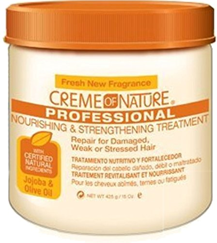 Strengthening Creme (Creme of Nature Nourishing and Strengthening Treatment with Jojoba and Olive Oil, 15 Ounce)