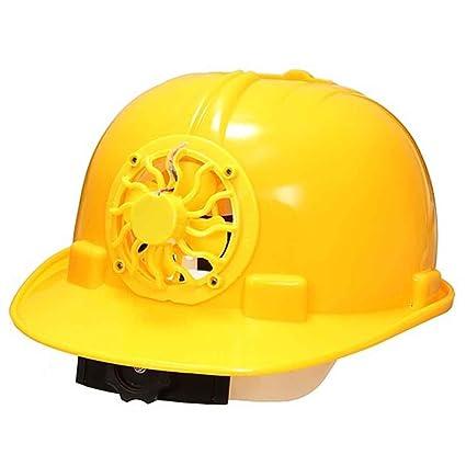 Casco de trabajo de construcción. casco de seguridad con energía solar, gorra de ventilación