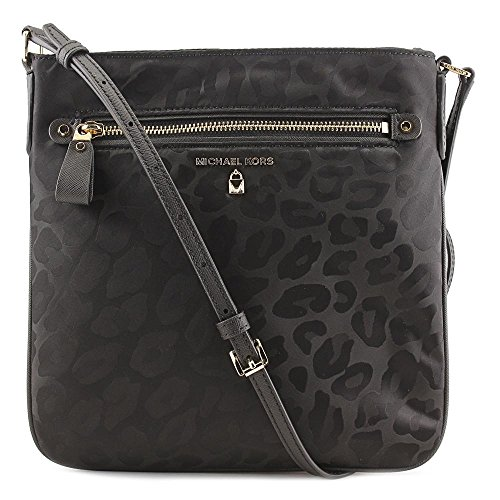 Michael Kors Kelsey Animal Print Nylon Large Crossbody Handbag in ()