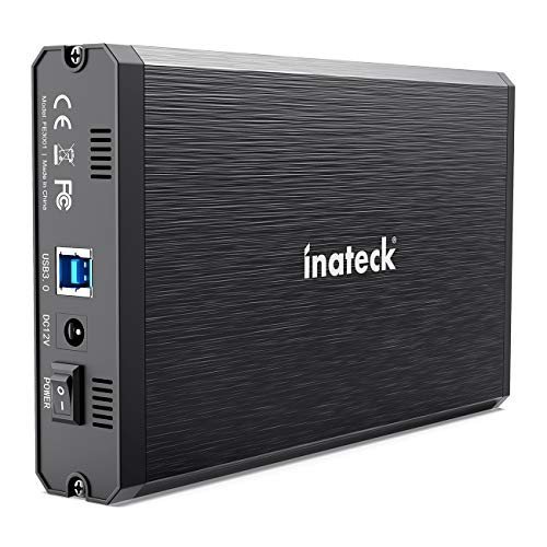 Inateck 3.5 Hard Drive Enclosure, Aluminum USB 3.0 Sata HDD Enclosure, FE3001
