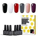 Lagunamoon Gel Nail Polish Soak Off UV LED Mix 6 Colours Gel Polish