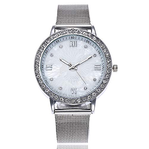 Hessimy Womens Fashion Watches New Ladies Business Bracelet Classic Luxury Crystal Watch Sport Casual Stainless Steel Retro Marble Strap Analog Quartz Wrist Watches for Women On Sale from Hessimy Watches