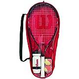 Wilson Tennis Children's Starter Set (Roger Federer 25 Racket, 2x Mini Tennis Balls, 1x Water...