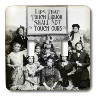 3dRose lsp_46926_2 Lips That Touch Liquor prohibition poster, prohibition, humor, humour, funny, movie, thomas edison Double Toggle Switch